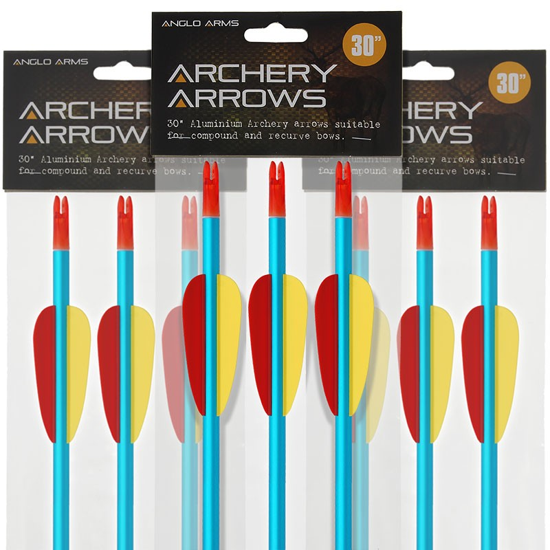 "Anglo Arms 30"" Aluminium Bow Arrows"