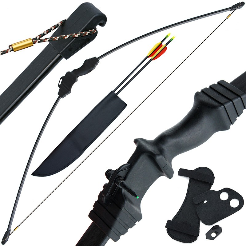15lb Black 'Tokachi' Recurve Bow On Blister