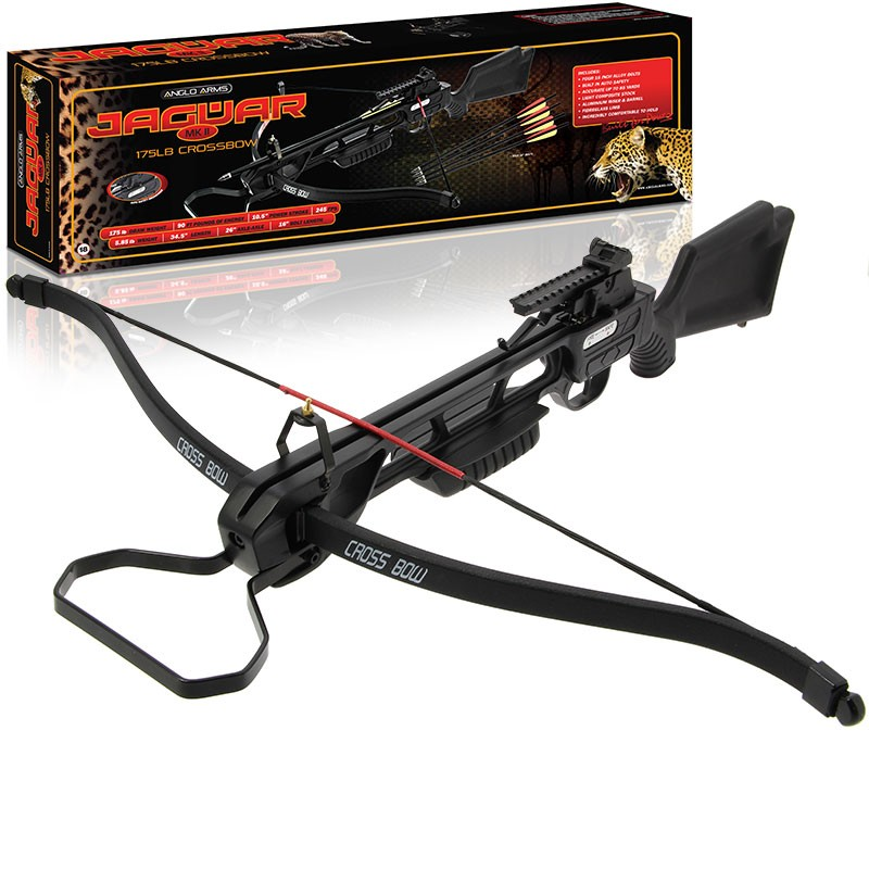 Anglo Arms Jaguar 175lb Black Recurve Crossbow