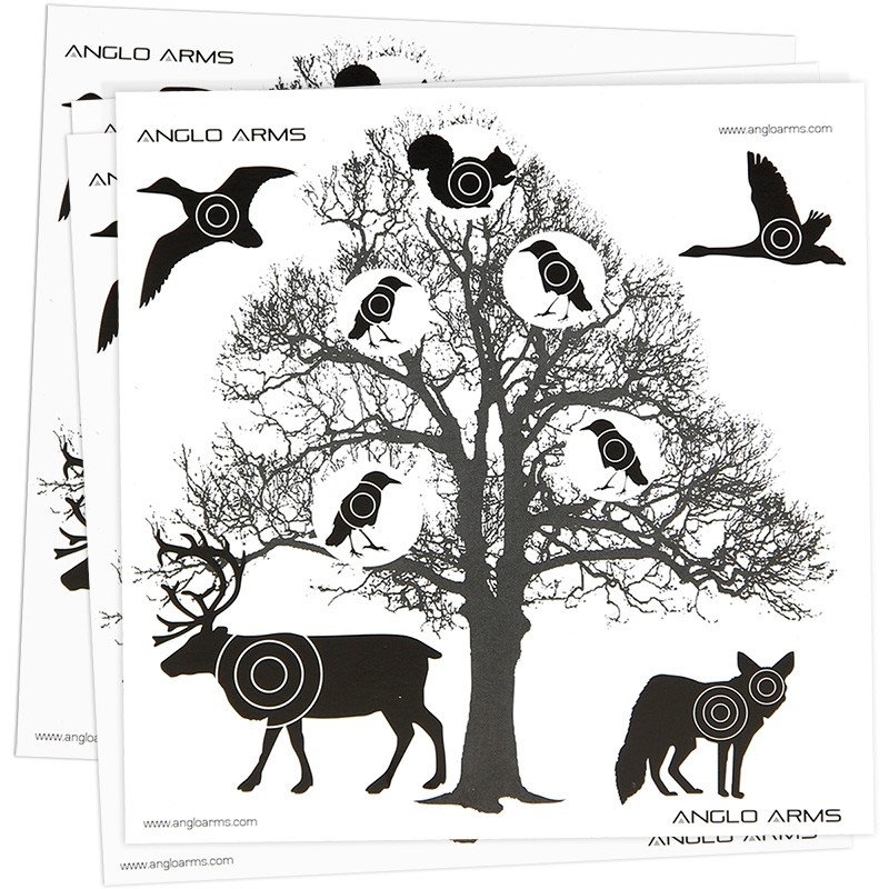 Anglo Arms 50 Tree Scene Paper Targets