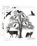 50 Tree Scene Paper Targets