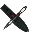 Black Spider Throwing Knife Set