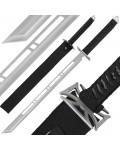 "28"" Silver Ninja Sword And Sheath"