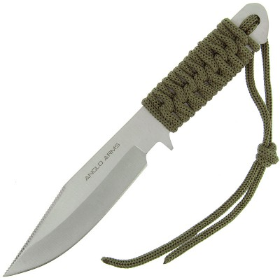 """Anglo Arms 7"""" Green Laced Knife"""
