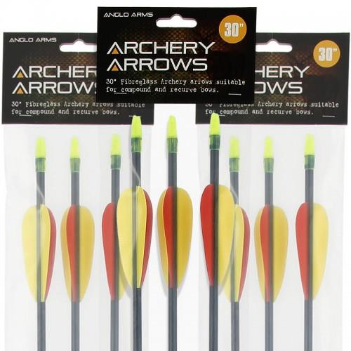 "Anglo Arms 30"" Fiberglass Bow Arrows"