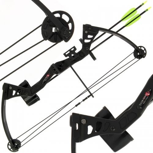 25lb Black 'Kita' Compound Bow