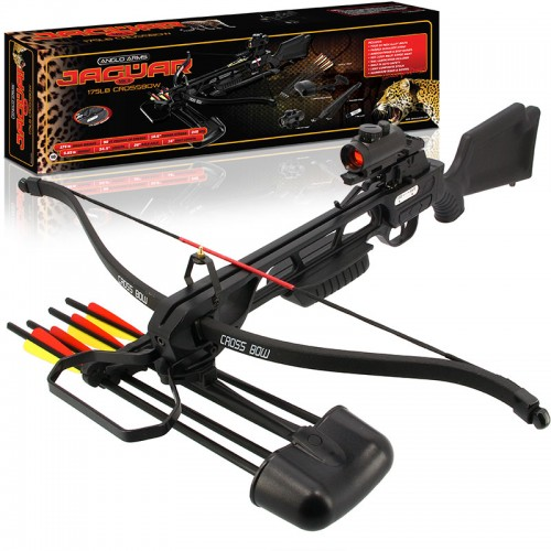 Anglo Arms Jaguar DLX 175lb Black Recurve Crossbow
