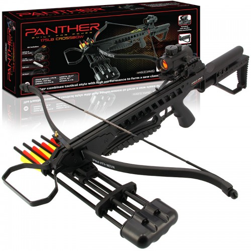 Anglo Arms PANTHER 175lb Black Recurve Crossbow