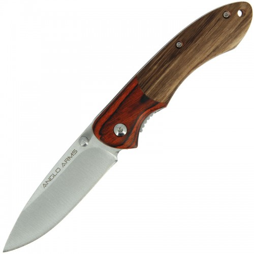 anglo Arms Wood Handle Lock Knife