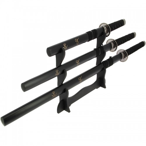 Anglo Arms Black 3pc Straight Sword Set