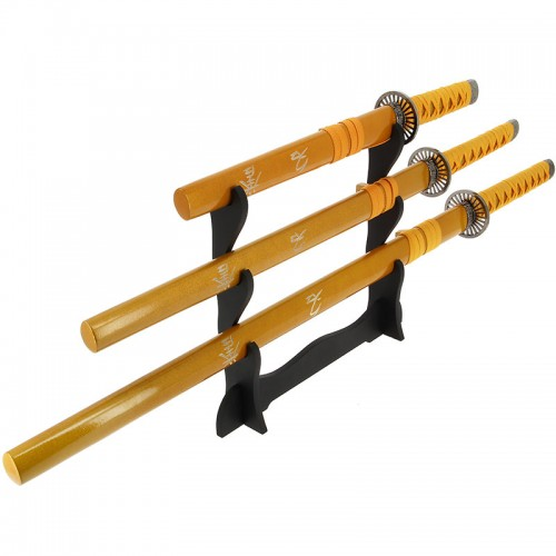 Anglo Arms Gold 3pc Straight Sword Set