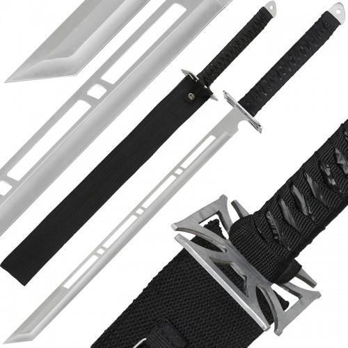 """Anglo Arms 28"""" Silver Ninja Sword And Sheath"""
